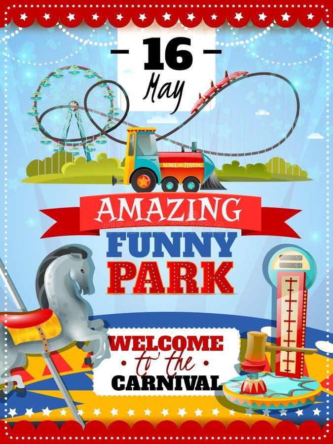 Amusement Park Poster vector illustration