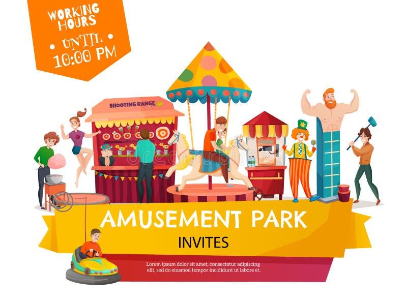 Amusement Park Poster royalty free illustration