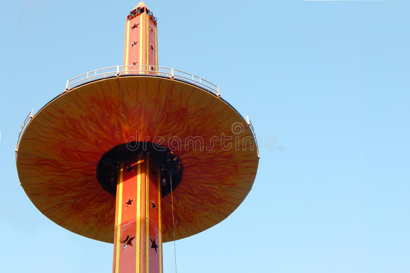 Amusement park ride. Photo of amusement park ride carousal in a exhibition entertainment event in Hyderabad,India stock photography