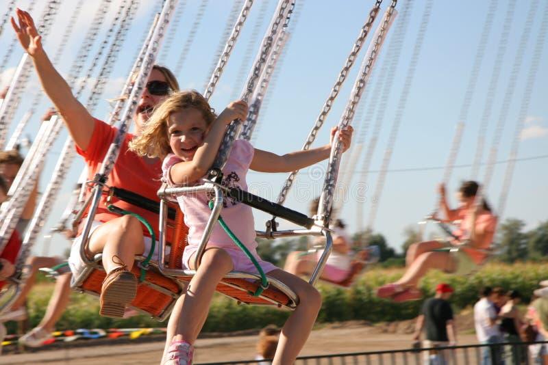 Amusement Park Swings stock image