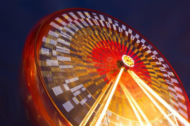 Amusement park. Wheel. At night. Dublin royalty free stock image
