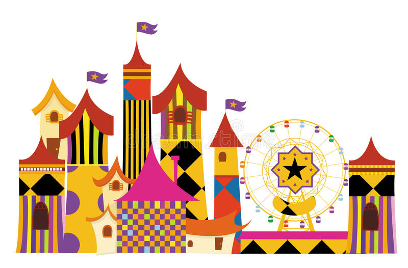 Download Amusement parks stock vector. Image of amusement, style - 9764436