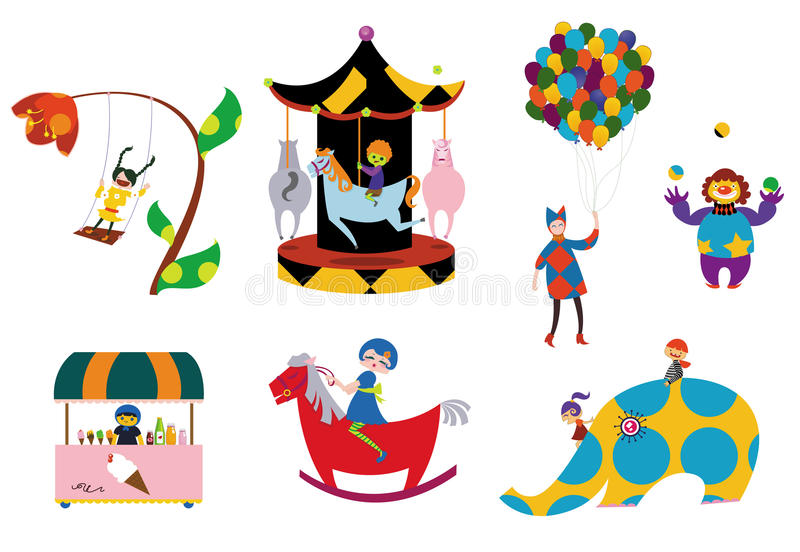 Download Amusement parks pattern stock vector. Image of funky, child - 9764395