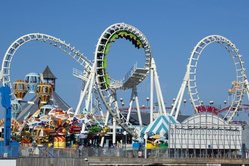 Amusement Pier Stock Image