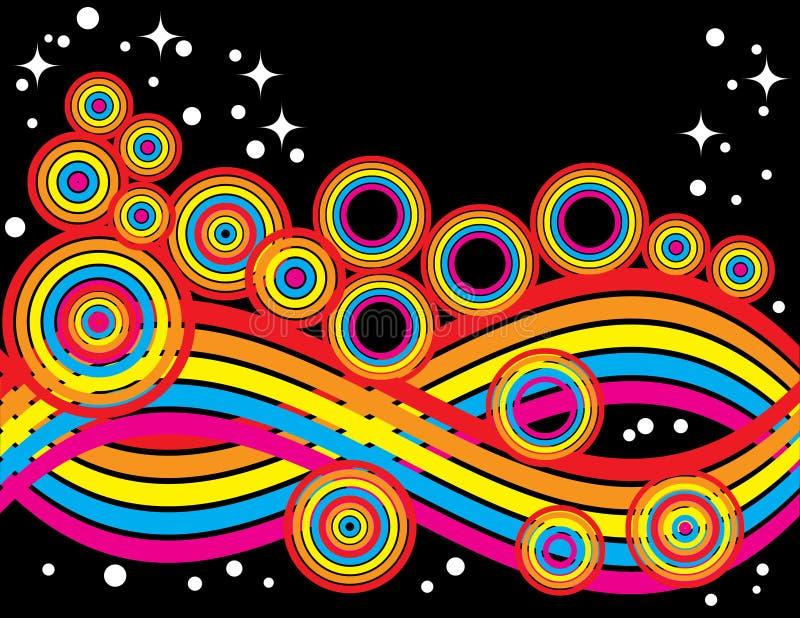 Amusement rétro illustration stock