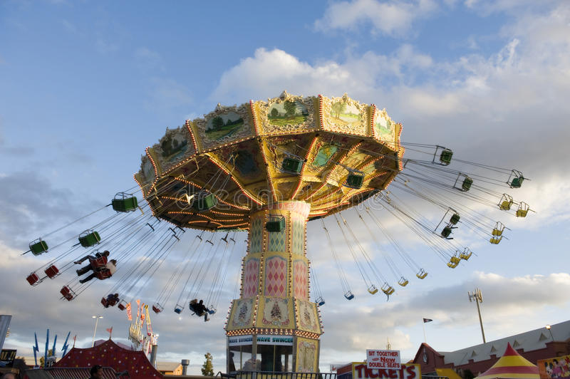 Download Amusement Ride at dusk editorial photo. Image of adelaide - 21143541