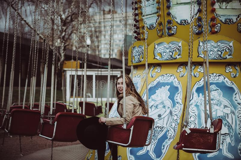 Amusement Ride, Snapshot, Carousel, Amusement Park royalty free stock image