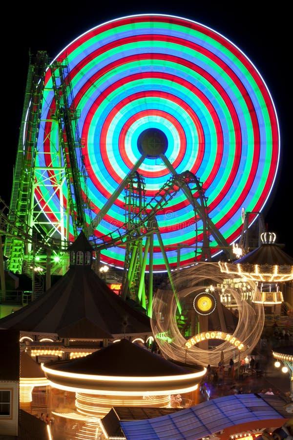 Free Amusement Rides At Night Royalty Free Stock Image - 15820436