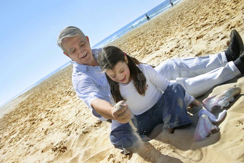 Amusement sur la plage image stock
