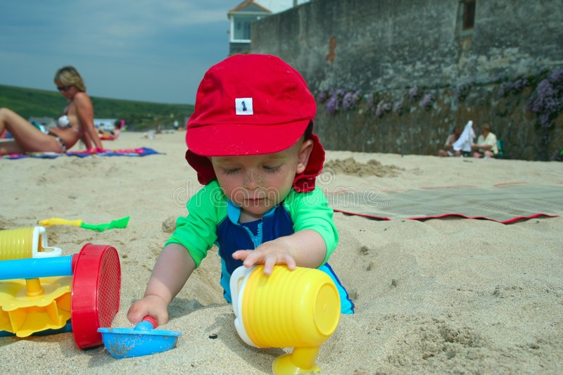 Amusement sur la plage images libres de droits