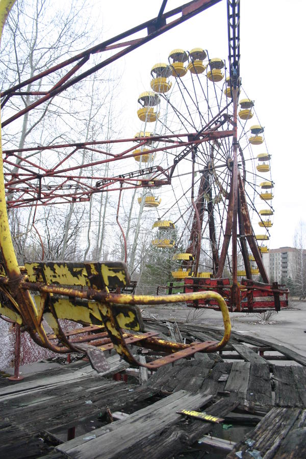 Amusements abandonnés Pripyat, Chernobyl image stock