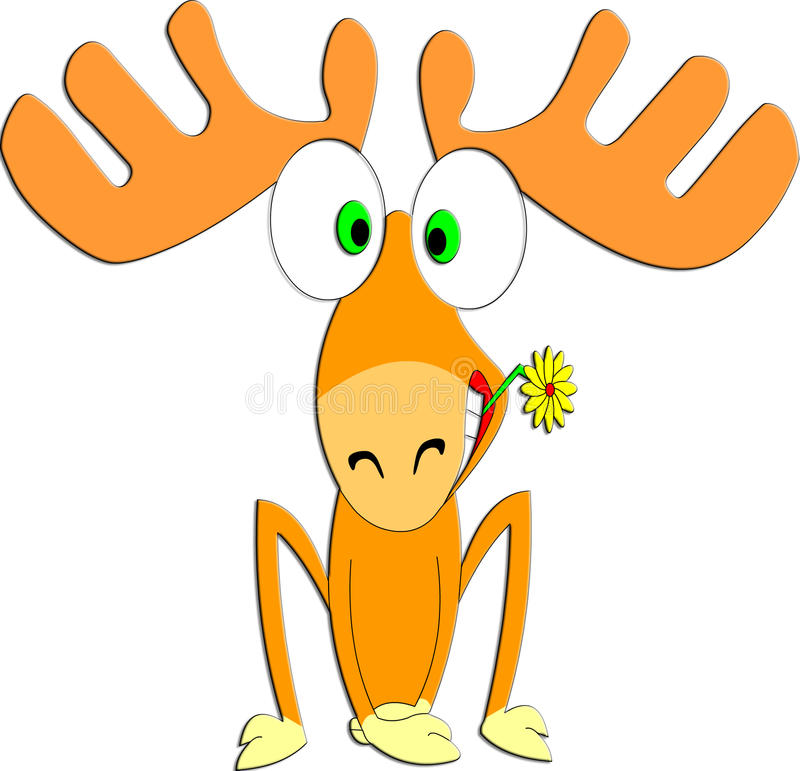 Download The Amusing Deer With Flower Stock Illustration - Image: 14214247