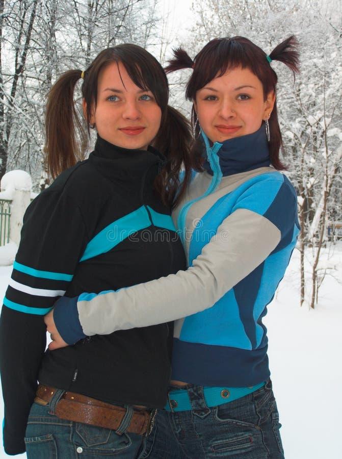 Free Amusing Girl-friends Stock Image - 496531