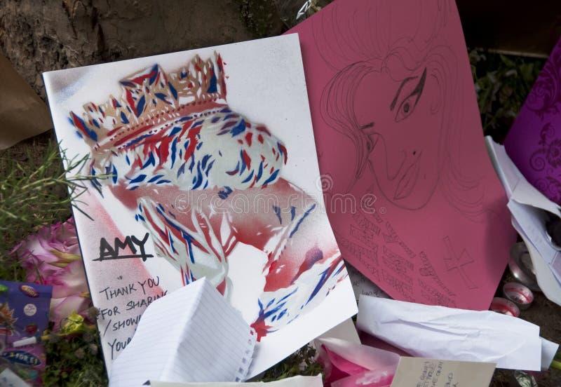 Amy к Winehouse дани Редакционное Стоковое Изображение