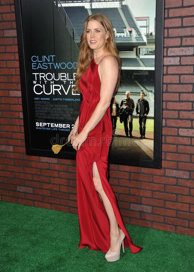 Amy Adams. LOS ANGELES, CA - September 19, 2012: Amy Adams at the premiere of her movie \'Trouble With The Curve\' at the Mann Village Theatre, Westwood..Picture royalty free stock photography