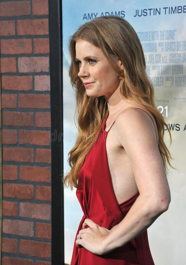 Amy Adams. LOS ANGELES, CA - September 19, 2012: Amy Adams at the premiere of her movie \'Trouble With The Curve\' at the Mann Village Theatre, Westwood..Picture stock images