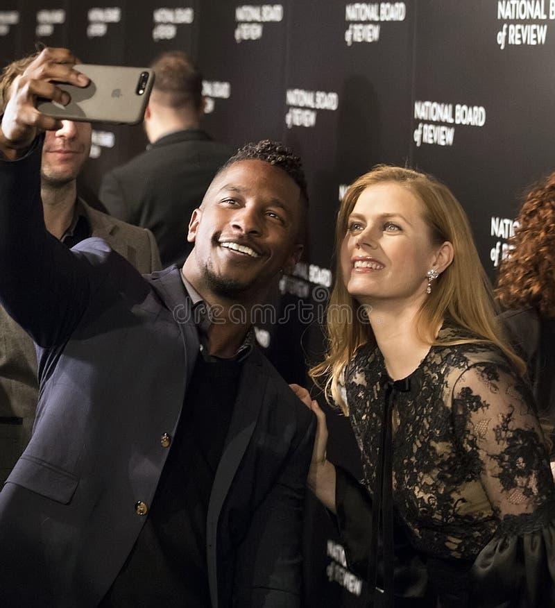 Amy Adams Scores ai premi del film di NBR immagini stock