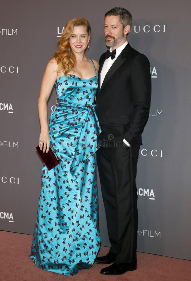 Amy Adams y Darren Le Gallo fotografía de archivo libre de regalías