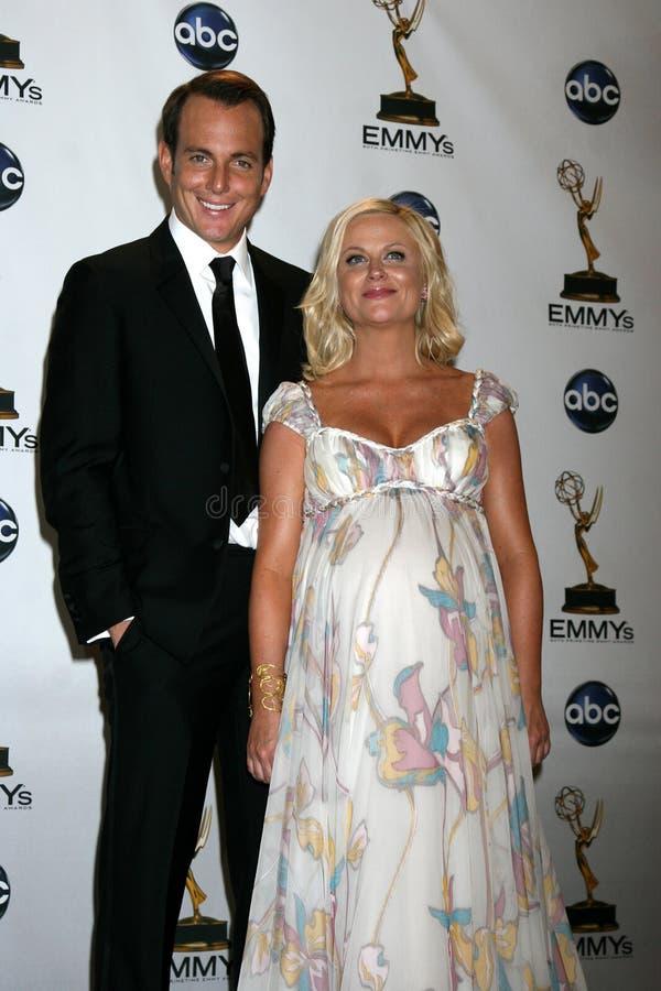 Amy Poehler, zal Arnett royalty-vrije stock foto's