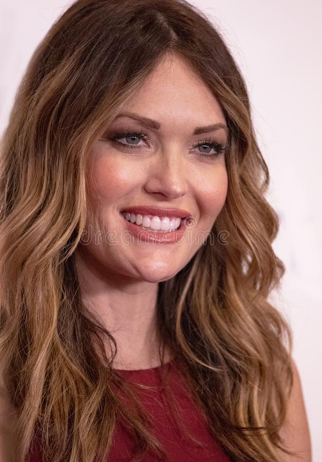 Amy Purdy. Is the most decorated U.S. Paralympic Snowboarder. Whe won three medals in the two Winter Games in Sochi and PyeongChang. She attends the 33rd Annual stock photos