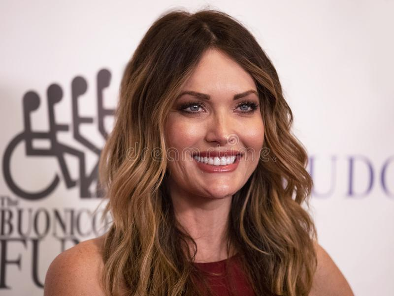 Amy Purdy. Is the most decorated U.S. Paralympic Snowboarder. She won three medals in the two Winter Games in Sochi and Pyeong Chang. She attends the 33rd stock photography