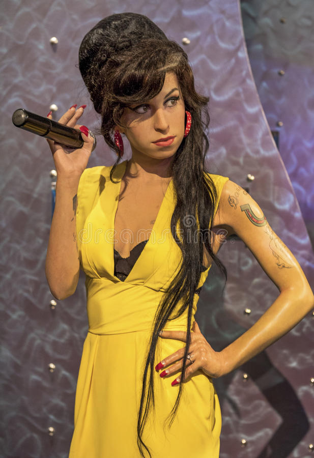 Amy Winehouse fotografia de stock royalty free