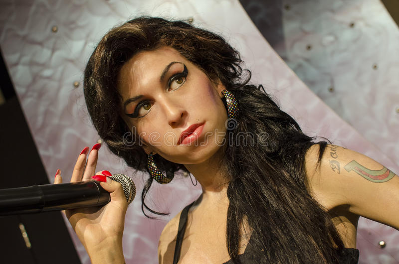 Amy winehouse. In the famous wax museum Madame tussauds london, england