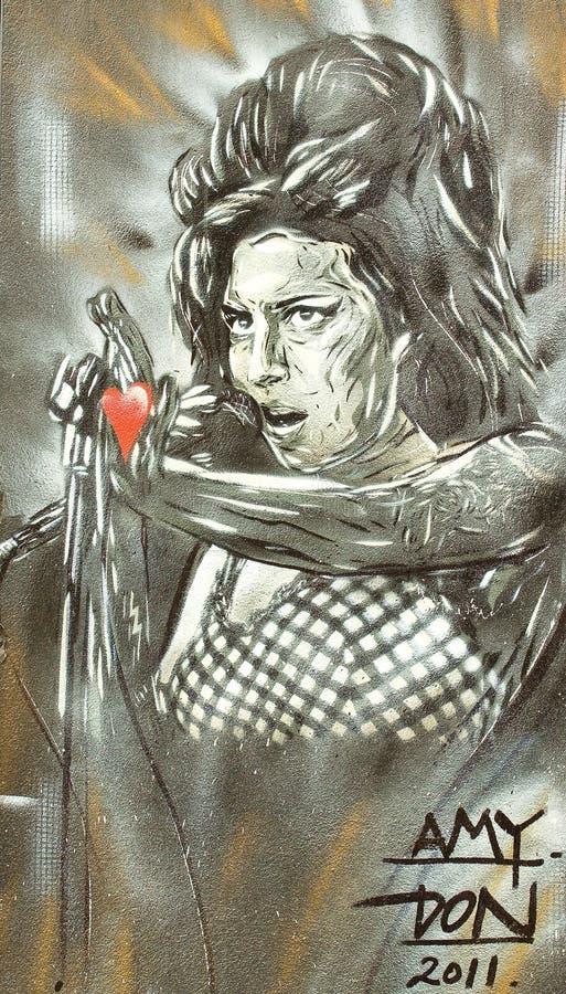 Amy Winehouse (grafittis) foto de stock royalty free