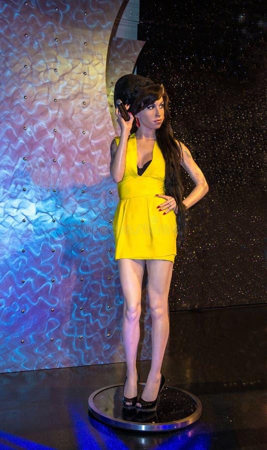 Amy Winehouse, le chanteur, au musée de cire de Madame Tussauds à Londres photos libres de droits