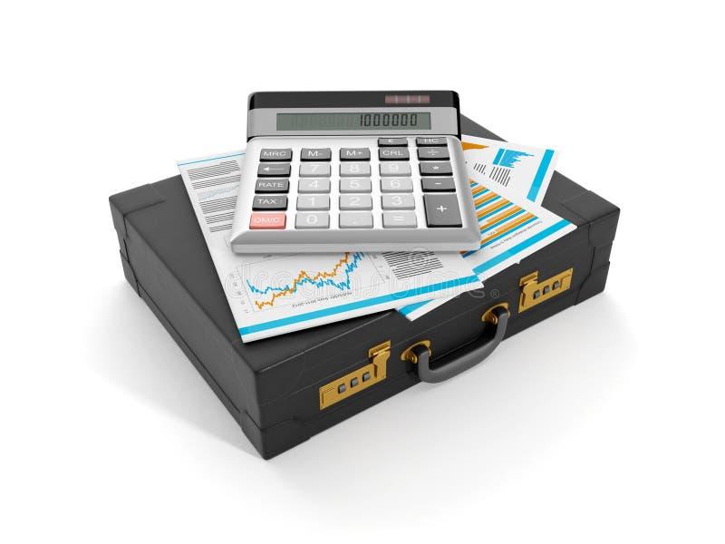 Análise da contabilidade e de dados ilustração do vetor