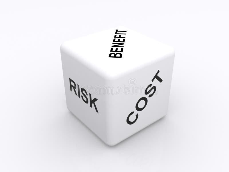 Análise de benefício de custo ilustração do vetor
