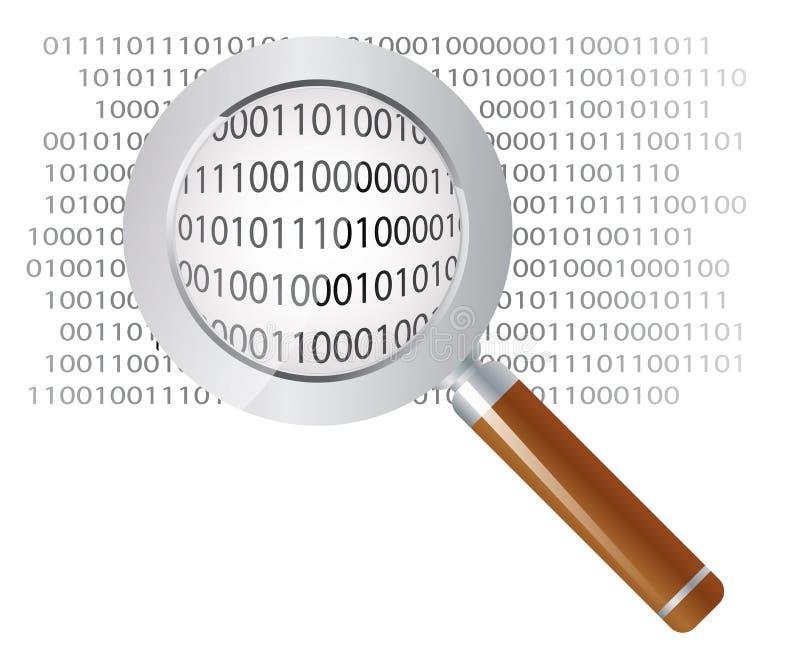 Análise de dados ilustração stock