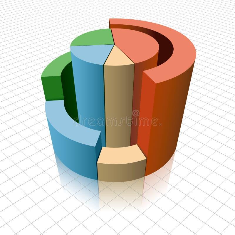 Análise de dados comerciais ilustração royalty free