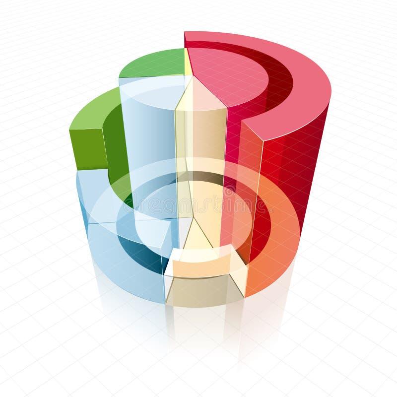 Análise de dados comerciais ilustração stock