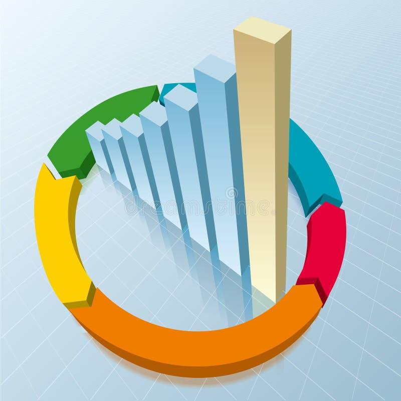 Análise de dados comerciais ilustração do vetor