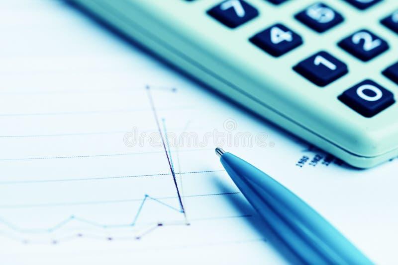 Análise de dados financeiros fotografia de stock