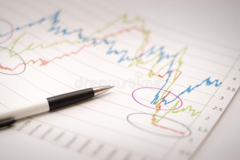 Análise de dados financeiros imagem de stock royalty free