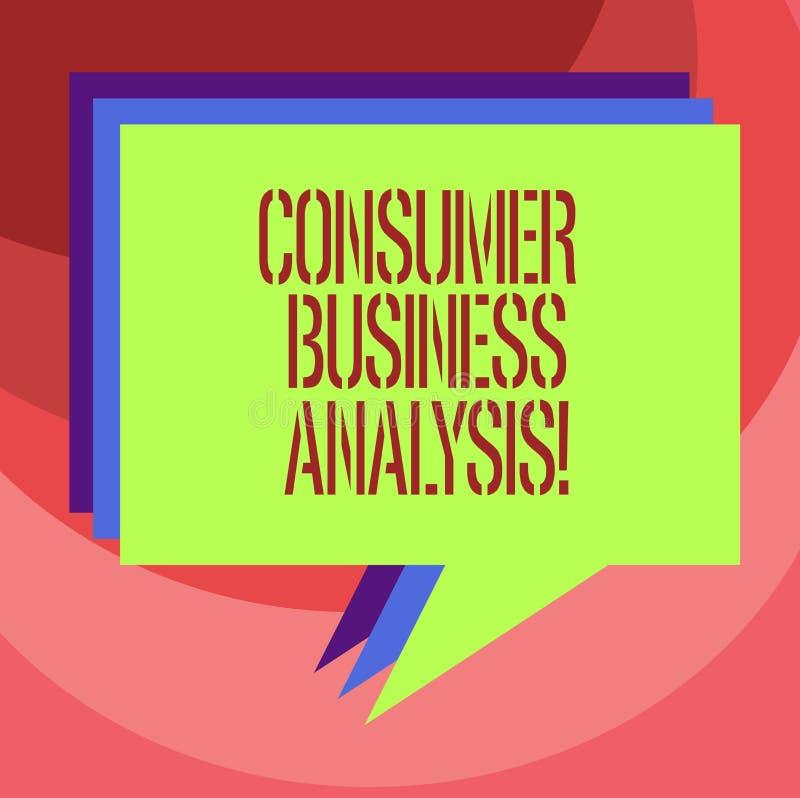 Análise de negócio do consumidor da exibição do sinal do texto A foto conceptual para recolher a informação no mercado-alvo s é n ilustração stock