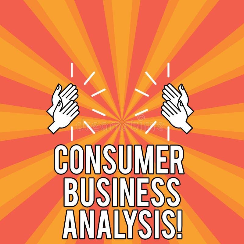 Análise de negócio do consumidor do texto da escrita O conceito que significa recolher a informação no mercado-alvo s é precisa d ilustração do vetor