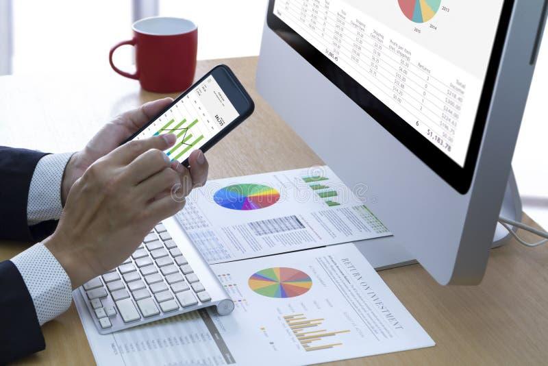 Análise de risco do desempenho empresarial e do investimento imagens de stock