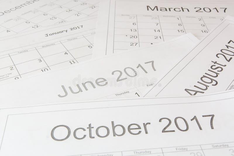 Análise de um calendário fotos de stock royalty free