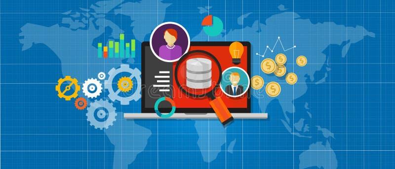 Análise do base de dados da inteligência empresarial ilustração do vetor
