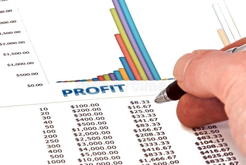 Análise do lucro foto de stock