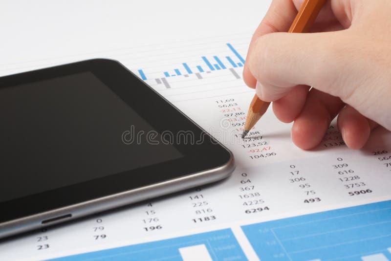 Análise do relatório de negócio fotos de stock