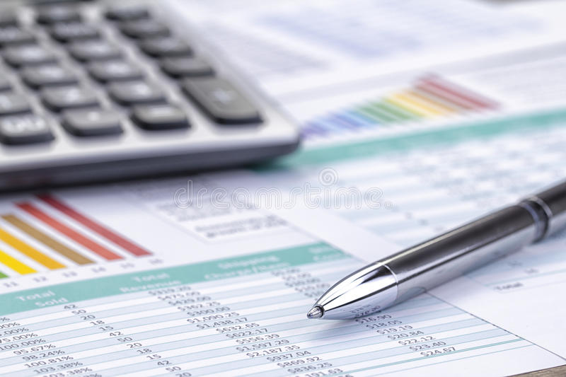Análise do retorno sobre o investimento imagens de stock royalty free