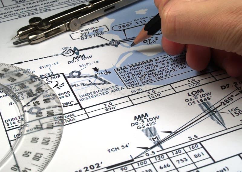 Análise do vôo imagens de stock