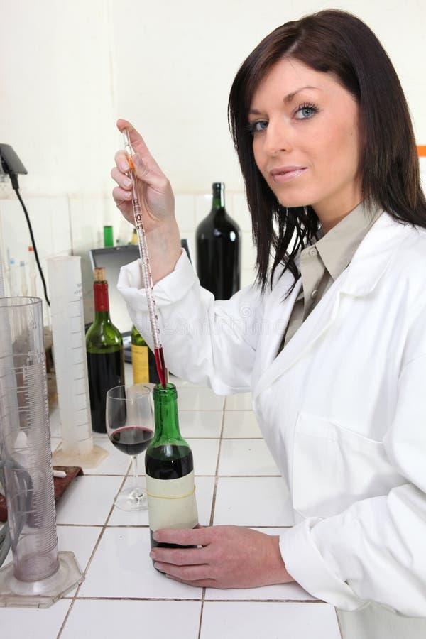 Análise do vinho foto de stock royalty free