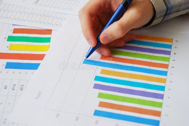 Análise dos dados financeiros fotografia de stock royalty free