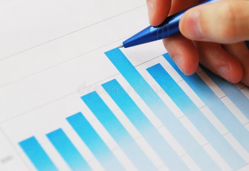 Análise dos dados financeiros imagens de stock royalty free