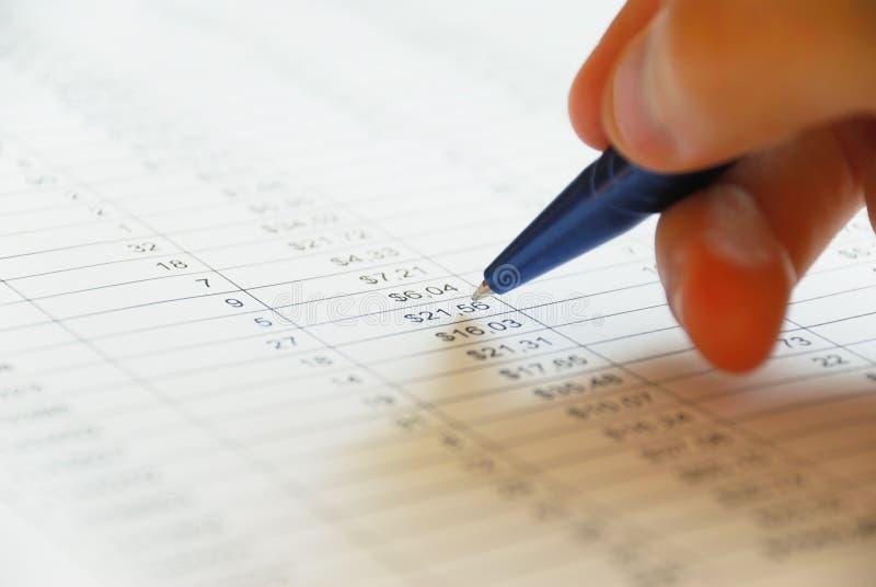 Análise financeira fotografia de stock